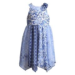 Girls 4-6x Youngland Butterfly Handkerchief Hem Woven Dress
