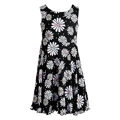 Girls 4-6x Youngland Daisy/Tie-Dye Reversible Knit Dress
