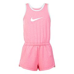 Girls 4-6x Nike Swoosh Striped Romper