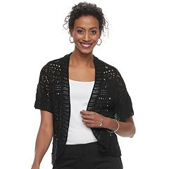 Women's World Unity Open Knit Bolero Cardigan