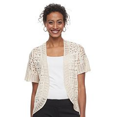 Women's Apt. 9® Open Knit Bolero Cardigan