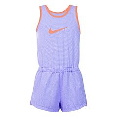 Girls 4-6x Nike Striped Dri-FIT Romper