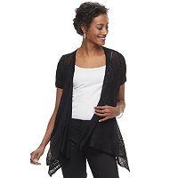 Women's Apt. 9® Lace Flyaway Cardigan