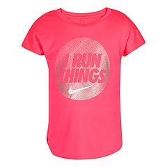 Girls 4-6x Nike Dri-FIT 'I Run Things' Circle Graphic Tee