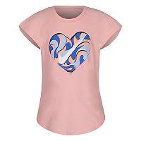 Girls 4-6x Nike Swirl Heart Graphic Tee