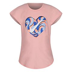 Girls 4-6x Nike Swirl Heart Graphic Tee