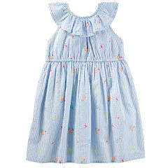 Toddler Girl OshKosh B'gosh® Striped Ruffled Dress