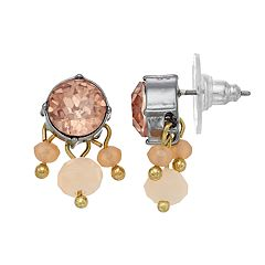 Simply Vera Vera Wang Pink Bead Drop Earrings