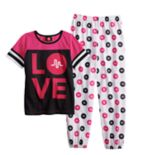 "Girls 6-12 Musical.ly ""Love"" Top & Bottoms Pajama Set"