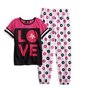 Girls 6-12 Musical.ly 'Love' Top & Bottoms Pajama Set