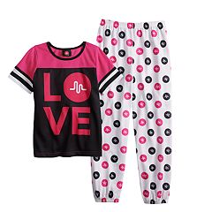 Girls 6-12 Musical.ly 'Love' Top & Bottoms Pajama Set