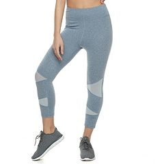 Juniors' SO® High-Waisted Mesh Capri Yoga Leggings