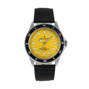Peugeot Men's Nylon & Leather Sport Watch - 2057YL