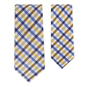 Father and Son Plaid Tie Set