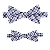 Father and Son Plaid Bow Tie Set