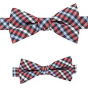 Father and Son Plaid Pre-Tied Bow Tie Set