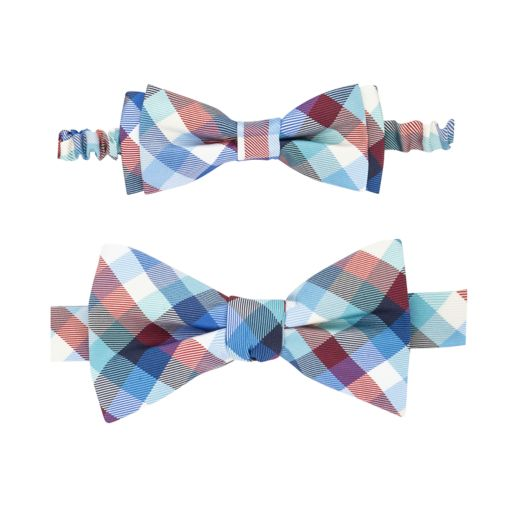 Father and Daughter Plaid Bow Tie & Hair Bow Set