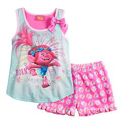 Girls 4-12 DreamWorks Trolls Poppy 'Born Sparkly' Tank Top & Shorts Pajama Set