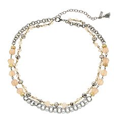 Simply Vera Vera Wang Bead & Chain Double Strand Necklace