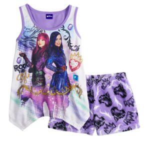 Disney's Descendants Girls 8-14 Evie & Mal Tank Top & Plush Shorts Pajama Set