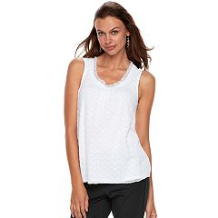 Women's ELLE™ Pleated Ruffle Tank