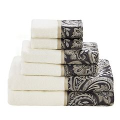 Madison Park Whitman Jacquard 6-piece Bath Towel Set