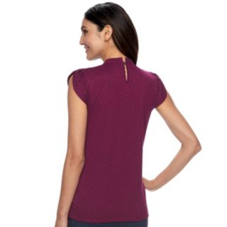 Women's ELLE? Pleated Mockneck Top