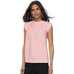 Women's ELLE™ Pleated Mockneck Top