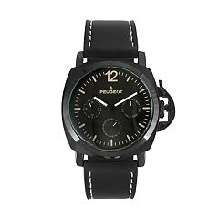 Peugeot Men's Leather Sport Watch - 2056BK