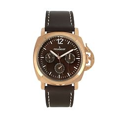 Peugeot Men's Leather Sport Watch - 2056RBR