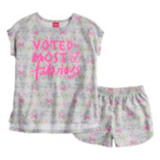 "Disney's Minnie Mouse Girls 4-8 ""Voted Most Fabulous"" Top & Shorts Pajama Set"