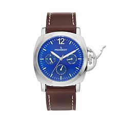 Peugeot Men's Casual Leather Multi-Function Watch - 2056SBL