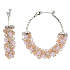 Simply Vera Vera Wang Bead Wrapped Hoop Earrings