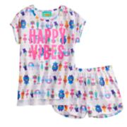 "Girls 4-12 DreamWorks Trolls ""Happy Vibes"" Top & Shorts Pajama Set"