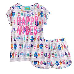 Girls 4-12 DreamWorks Trolls 'Happy Vibes' Top & Shorts Pajama Set