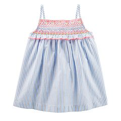 Toddler Girl OshKosh B'gosh® Striped Embroidered Tank Top