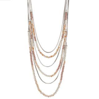 Simply Vera Vera Wang Bead Long Layered Necklace