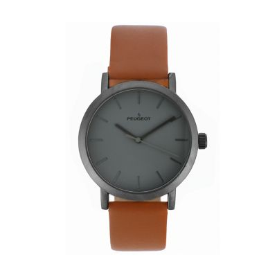 Peugeot Men's Casual Leather Watch - 2059GN