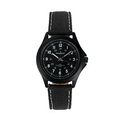 Peugeot Men's Casual Aviator Canvas Watch - 2055BK