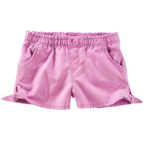 Toddler Girl OshKosh B'gosh® Knot-Hem Twill Shorts