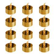 LumaBase Amber LED Tealight Candle 12-piece Set