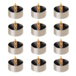 LumaBase Amber LED Tealight Candle 12 pc Set