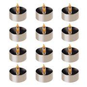LumaBase Amber LED Tealight Candle 12 pc Set