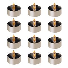 LumaBase Amber LED Tealight Candle 12-piece Set