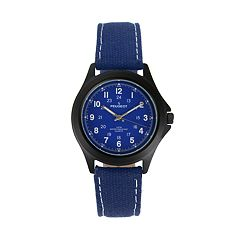 Peugeot Men's Casual Aviator Canvas Watch - 2055BL