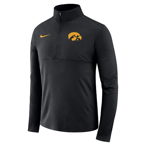 Men's Nike Iowa Hawkeyes Element 1/2-Zip Pullover Top