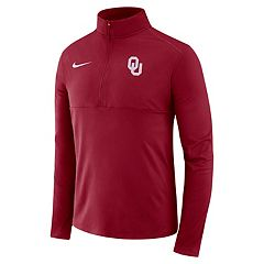 Men's Nike Oklahoma Sooners Element 1/2-Zip Pullover Top