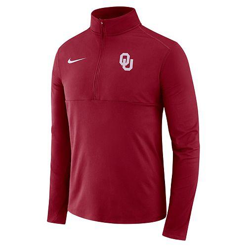 Men's Nike Oklahoma Sooners Element 1/2-Zip Pullover Top