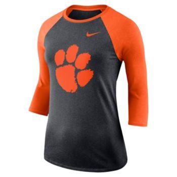 Women's Nike Clemson Tigers Baseball Tee