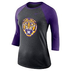 Women's Nike LSU Tigers Baseball Tee
